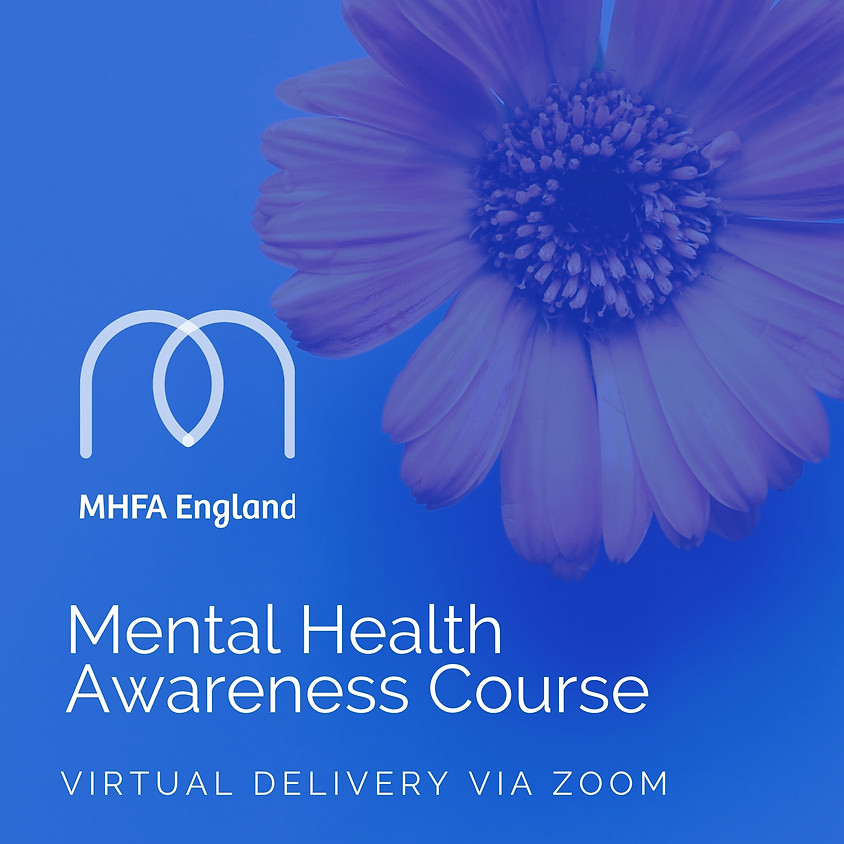 Mental Health Awareness Half Day Virtual Course on the 10th November