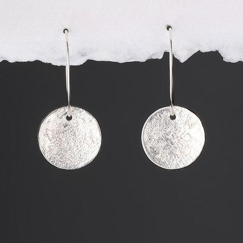 Crete Textured Disk Hoop Earrings