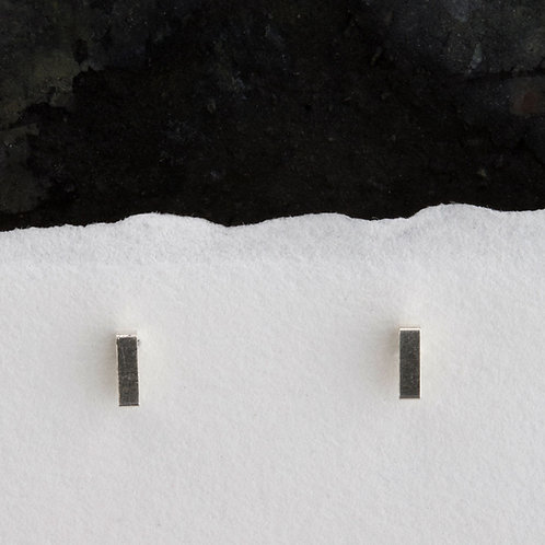 Open Rectangular Stud Earrings