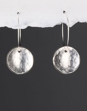 Tactilis Hammered Dome Hoop Earrings
