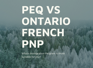 PEQ or Ontario PNP for french speakers?