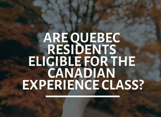 Can Quebec residents apply for the Canadian Experience Class?