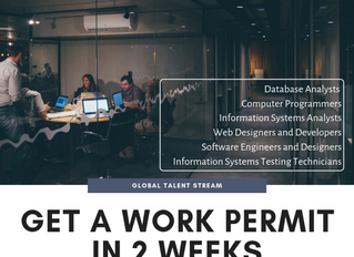 Global Talent Stream: get a Work Permit in 2 weeks!
