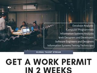 Global Talent Stream: get a Work Permit in 2 weeks!