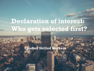 Quebec's Declaration of Interest: Who gets selected first?