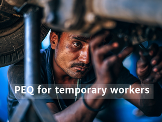 What kind of work experience can qualify for the PEQ program?