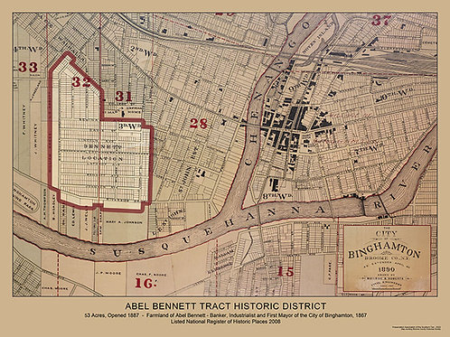 Abel Bennett Tract Historic District - 1890 map