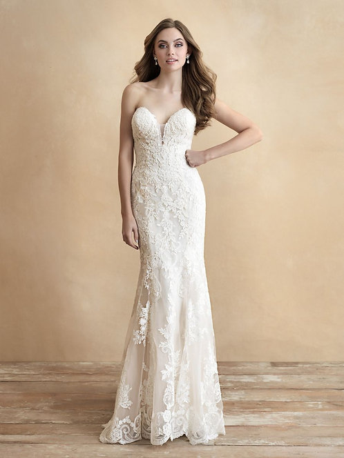Hayden allure strapless lace train bridal studio allure bridal