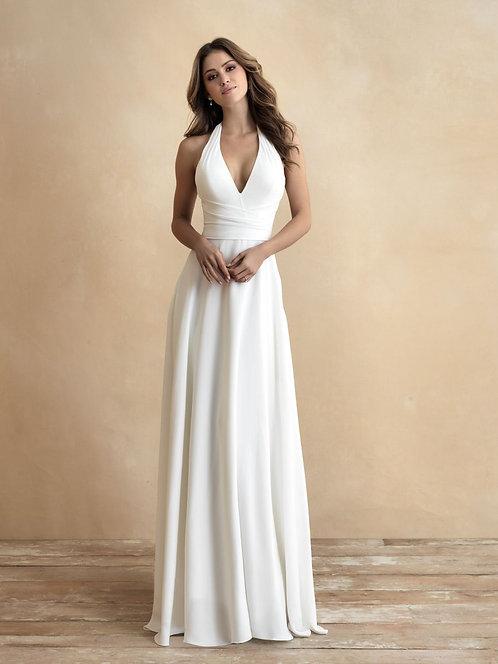 gray allure bridal halter neck plain bridal studio