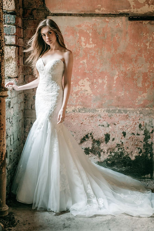 Strapless lace fitted bridal studio maddison james
