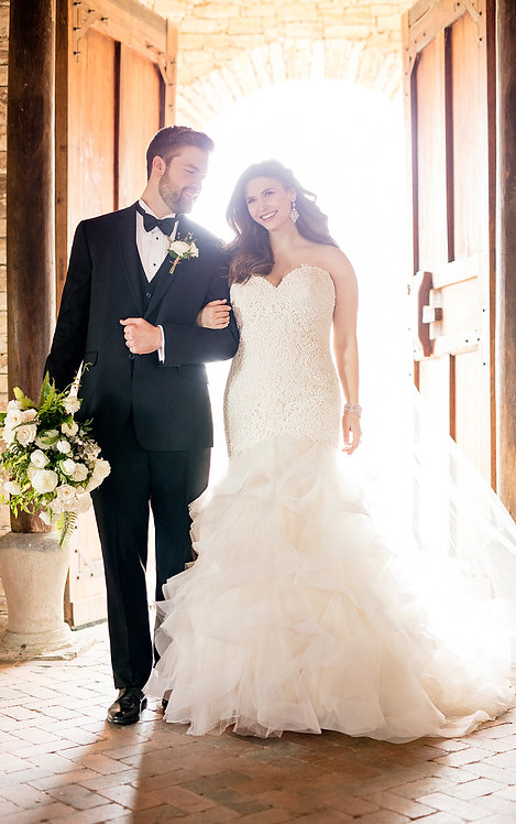 Piata Essense Bridal Studio Gown Fit and Flare Beading Tulle Skirt