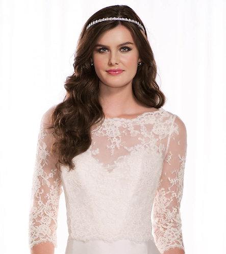 Phoebe Essense Bridal Studio Lace Jacket Bolero High Neckline Illusion