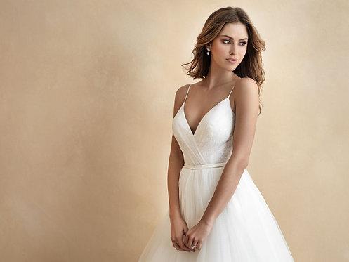 Ira Allure Bridal Ball gown vneck bridal studio tulle