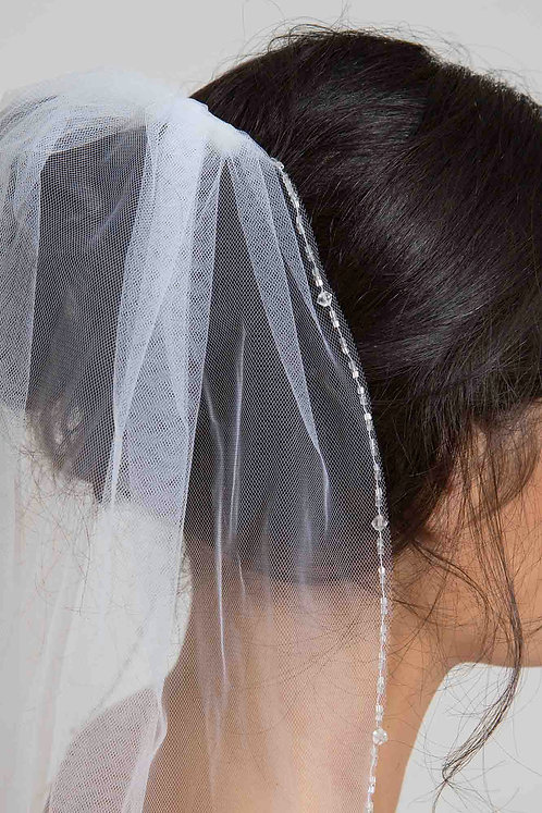 Pepper Venus Bridal Studio Veil Beaded Tulle