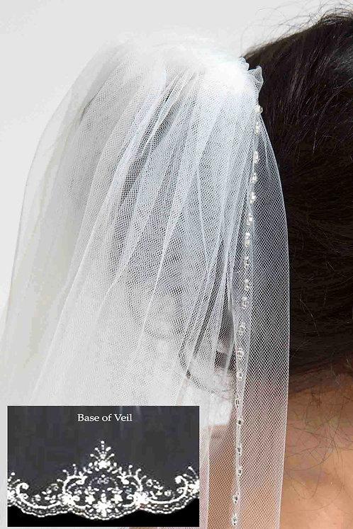Vicki Venus Bridal Studio Veil Beaded Tulle