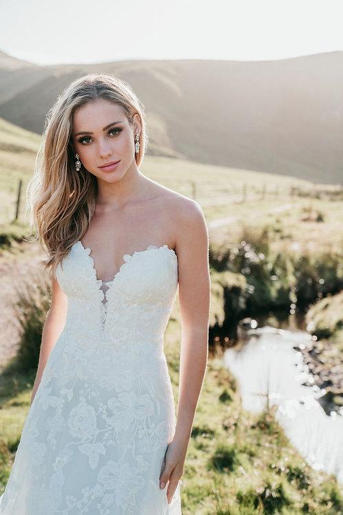 Carson Allure Bridal Bridal Studio Aline Lace Strapless