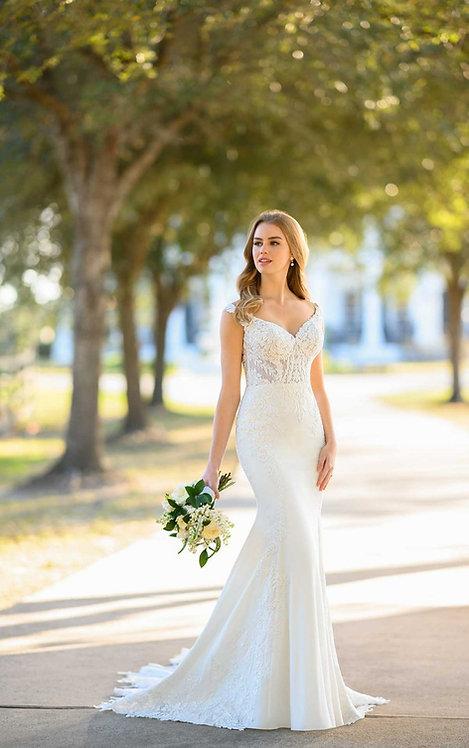 lucia bridal studio martina liana crepe highback lace