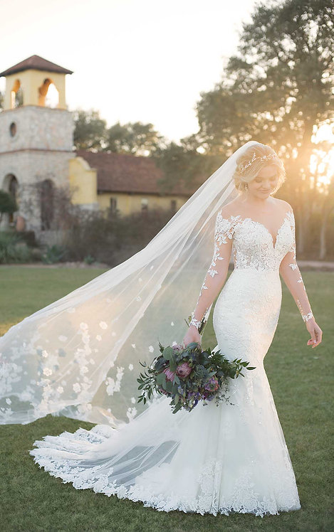 Bridal Studio Veil Lace Cathedral Poppy