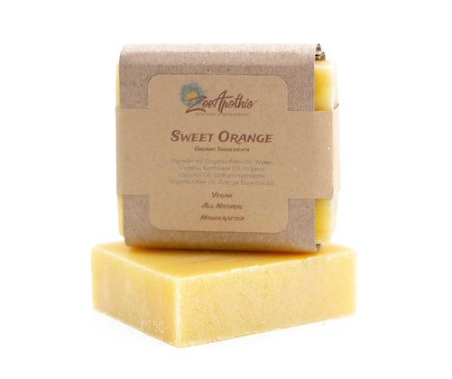 Handcrafted All Natural Sweet Orange Soap (Vegan)