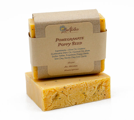 Pomegranate & Poppy Seed Handcrafted Soap (Vegan)