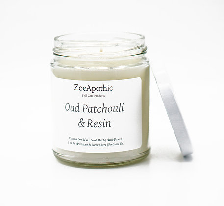 Oud Patchouli and Resin Candle