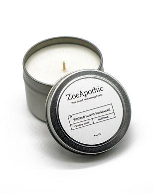 Patchouli Rose and Sandalwood Candle 4oz