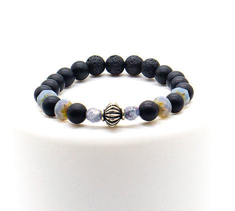 Genuine Matte Black Onyx Diffuser Bracelet