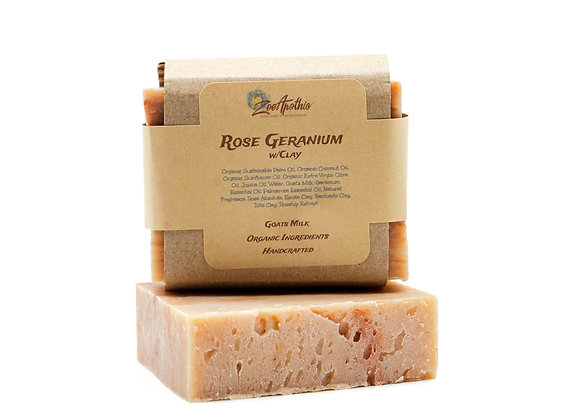 Rose Geranium Handcrafted Soap (Goats Milk)