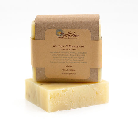 Handcrafted Tea Tree and Eucalyptus Soap (Vegan)