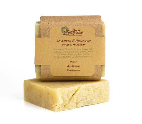 Lavender and Rosemary Beard & Hair Soap