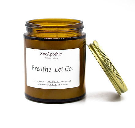 Breathe. Let Go. Candle