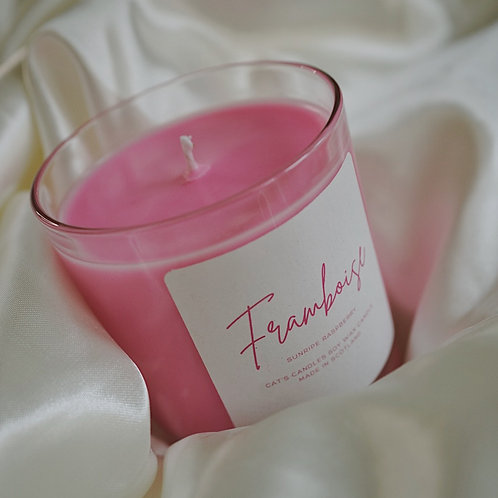 Framboise Pink Candle