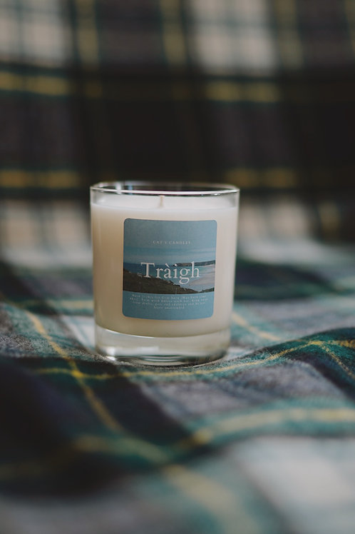 Alba Collection Clear Glass Candle