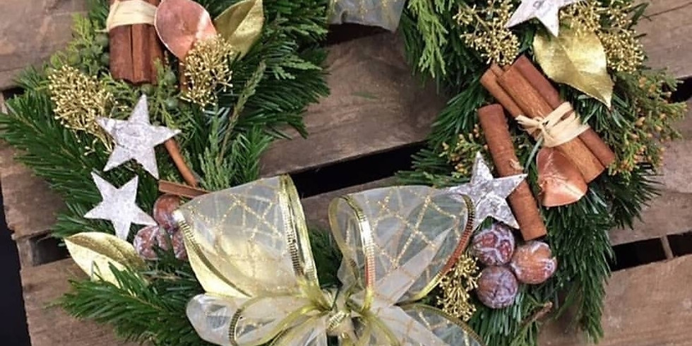 Christmas Wreath Making with Fishlocks Florists