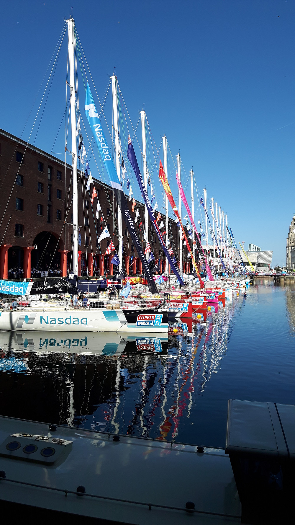The Clipper Round the World Yacht Race 17/18 boats at the Albert Dock (Aug '17)