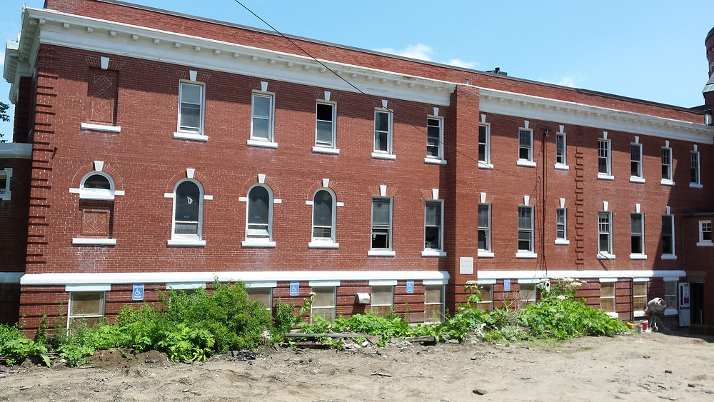 Side view of old St. Andre's convent in Biddeford
