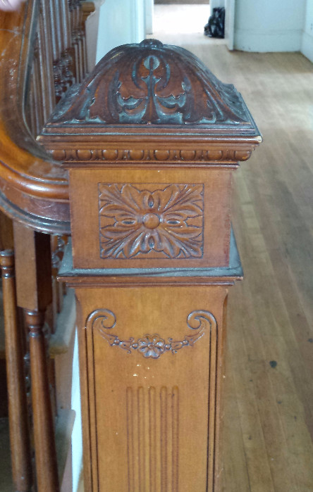 Detail of bannister in historic Rectory