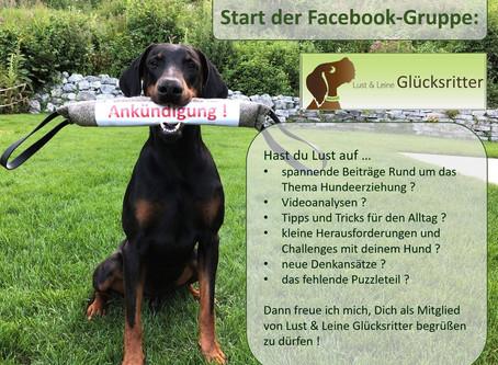 Start meiner Facebook-Gruppe Lust & Leine Glücksritter