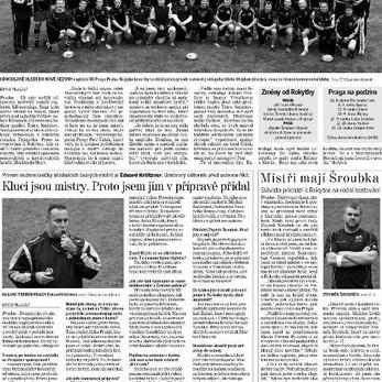 Pragovka v Pražském deníku