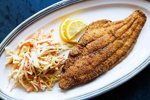 1 Lb of Perch,Tilapia or Catfish Rolls & 2 Sides
