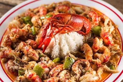 1 Lb Crab-Legs, 1 Lb Crawfish, 1 Lb Shrimp