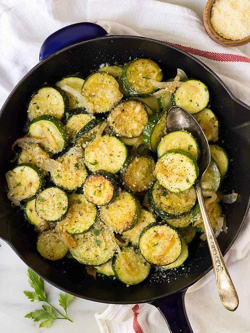 Zucchini, Squash & Onions (v)
