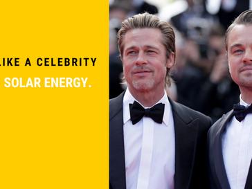 Celebrities with solar energy.