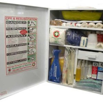 K905 Food Industry Compliant First Aid Kit – Wall mount