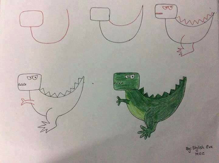 Drawing using letters and numbers