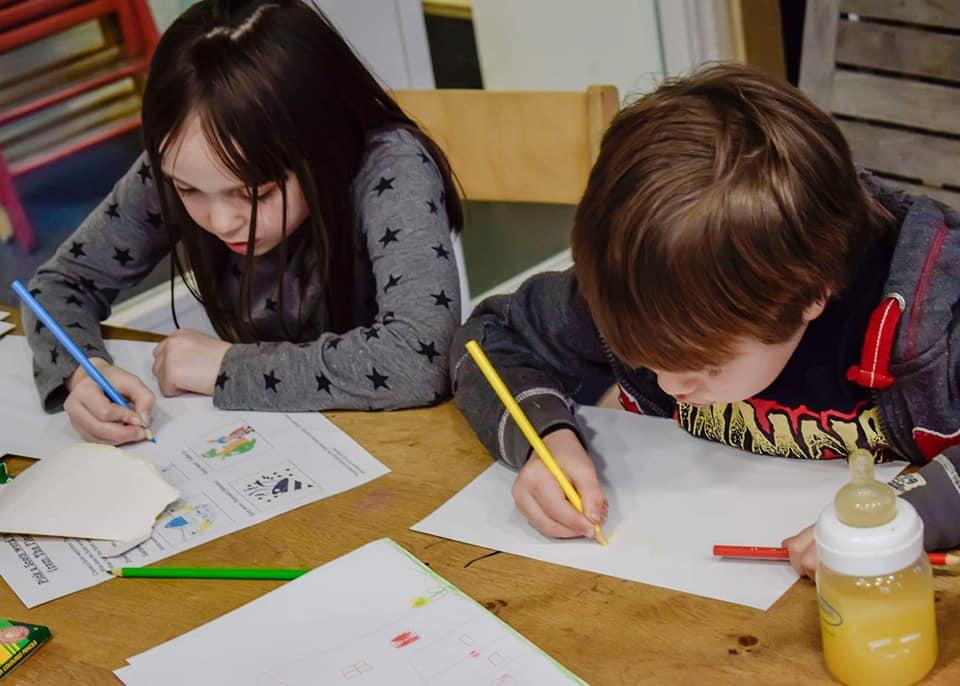 Kids doing the activities