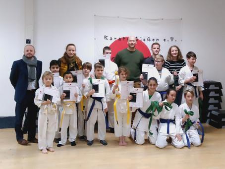 Kyu Prüfungen im Karate Gießen e.V. Nachwuchs