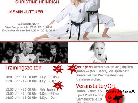 Lehrgang mit Christine Heinrich und Jasmin Jüttner
