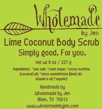 Lime Coconut Body Scrub