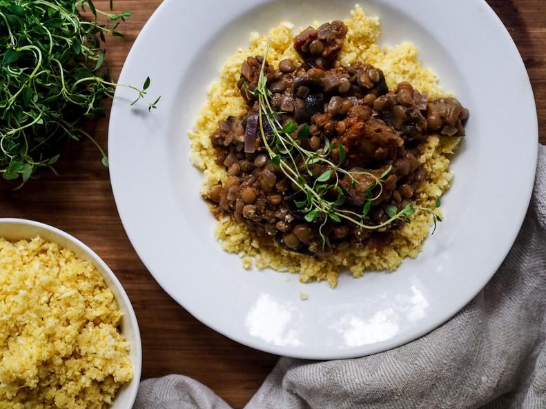 LINSSI-MUNAKOISOCURRY / Eggplant & Lentil Curry